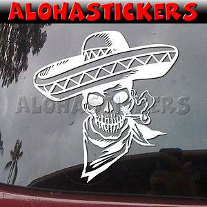 MEXICAN SKULL Vinyl Decal Mexico Window Sticker M134