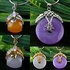 Myanmar Green Love Heart Jade Silver Plated Crystal Charm Pendant Bead
