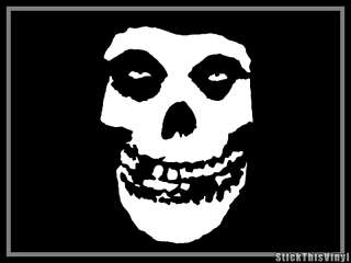 Misfits Skull Decal Vinyl Sticker (2x)