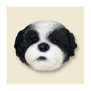Shih Tzu Puppy Cut Dog Magnet   Black & White Kitchen