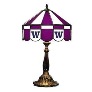 Washington 16 NCAA Stained Glass Table Lamp   160TL WASH