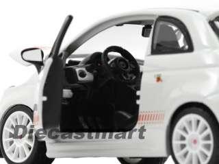 FIAT 500 ABARTH ESSESSE NEW DIECAST MODEL CAR WHITE WHITE RIMS
