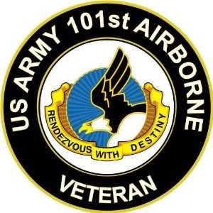 US Army Veteran 101st Airborne Unit Crest Sticker Decal 3