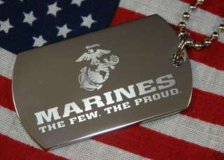 PERSONALIZED MARINE MILITARY DOG TAG NECKLACE