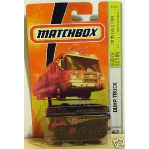 Matchbox Dump Truck Maroon Construction #67 164 Scale