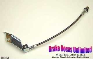 REAR STAINLESS BRAKE HOSE Ford Mustang 1967 1968 1969