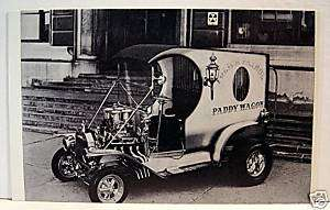 Police Paddy Wagon Car Hot Rod Custom Old Vending Card
