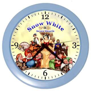 New* HOT SNOW WHITE and SEVEN DWARFS Wall Clock Home Gift