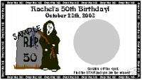 SCRATCH OFFS OVER THE HILL REAPER BIRTHDAY PARTY GAME