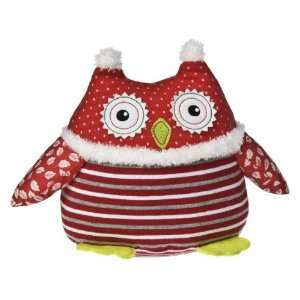 Mary Meyer 7 Holiday Patchwork Plush Owl   Red Toys & Games