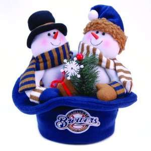 Brewers Snowmen Top Hat Table Christmas Decoration