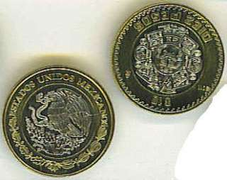 MEXICO 2011 UNCIRCULATED COIN SET, 0.10 TO 10 PESOS + 2001 5 CENTAVOS