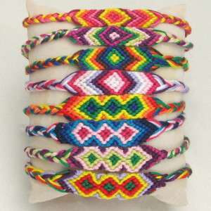 12 Diamond Macrame Hand weave Friendship Bracelets