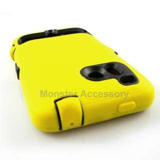 Double Layered Yellow Hard Case HTC Thunderbolt 4G