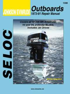 SELOC JOHNSON EVINRUDE OUTBOARD MOTOR ENG REPAIR MANUAL
