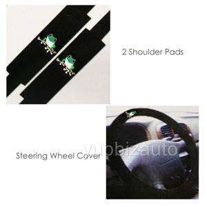 NEW 15PCS UNIVERSAL CAR SEAT COVERS MAT STEERING FROG