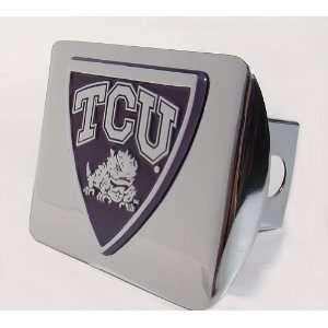 TCU Chrome Plated Metal Hitch Cover Automotive