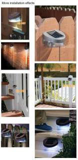 POWERED FENCE LIGHTS EASY INSTALL LED WALL GARDEN NO WIRING NEW