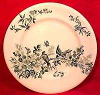 Antique French Longwy Faience Majolica Plate c.1870