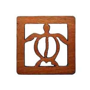 Wood Laser Cut Coaster 4 Piece Set   Honu Kitchen