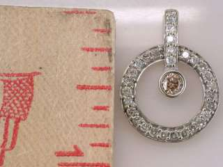 Genuine Diamond 1.00ct 14K White Gold Necklace Pendant Jewelry