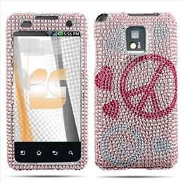 Pink Zebra Bling Hard Case Cover for LG T Mobile G2X