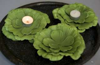 Floating Water Lettuce Plant Pool Party Candle Holder6