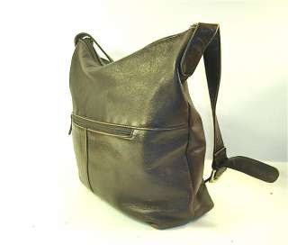 TERRIFIC STONE MOUNTAIN Chocolate Brown Leather Large Hobo Bag