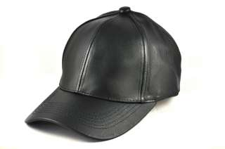 New Unisex Genuine Leather Ball Cap Hat Multi Color OS