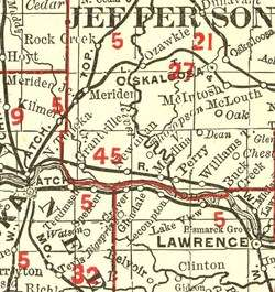 Kansas Railroad Maps, Time Table Schedules, Road Maps 1872 1934 on DVD