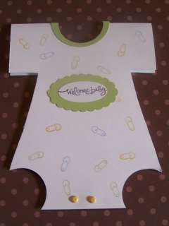 Stampin Up handmade greeting card boy baby onesie LOT