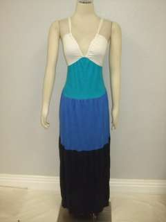 NWOT LuLu Lame Anthropologie Color Block Maxi Dress S