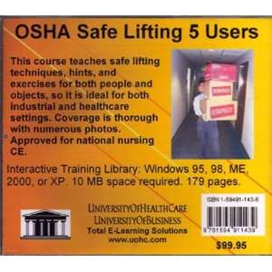 OSHA Safe Lifting 5 Users: Introductory But Comprehensive