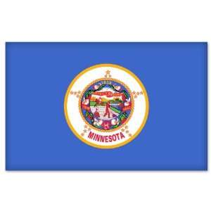 Minnesota State Flag car bumper sticker decal 5 x 3