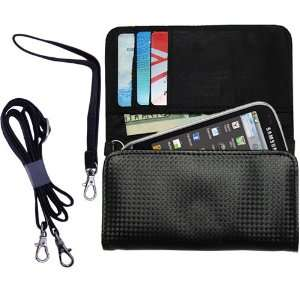 Black Purse Hand Bag Case for the Samsung Intercept with both a hand