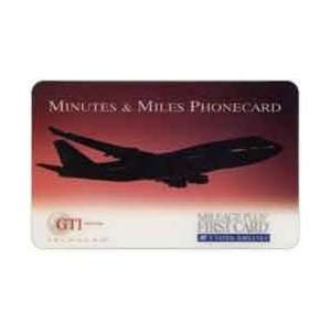 Collectible Phone Card United Airlines Mileage Plus First