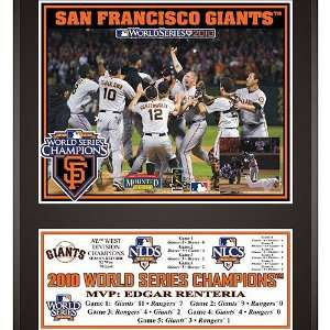 San Francisco Giants 2010 World Series Champions 12x15