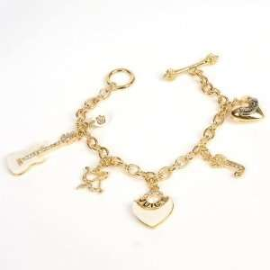 Juicy Couture Princess Gold Charm Bracelet Chain Toys