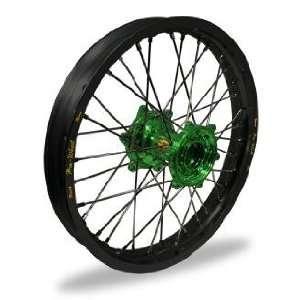 Pro Wheel MX Rear Wheel Set   16x1.60   Black Rim/Green Hub 24 13652