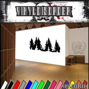 Trees Landscape Tree Line NS014 Vinyl Decal Wall Art Sticker