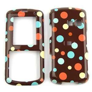 LG Banter UX265 AT&T Little Tiny Polka Dots on Brown Hard Case/Cover