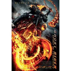 Ghost Rider Spirit of Vengeance Original Movie Poster
