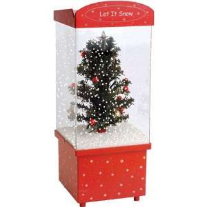 Let It Snow Christmas Tree Snow Globe