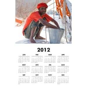 Egypt   Nubian Boy 2012 One Page Wall Calendar 11x17 inch