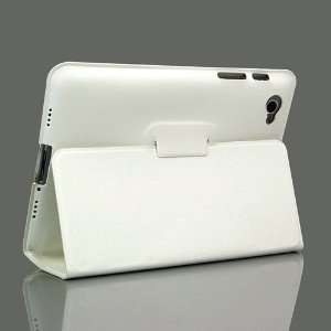 ZuGadgets White / Leather Stand Case for Galaxy Tab GT P6800 / Galaxy