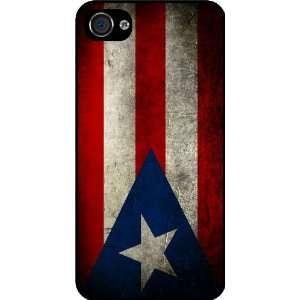 Rikki KnightTM Puerto Rico Flag Black Hard Case Cover for