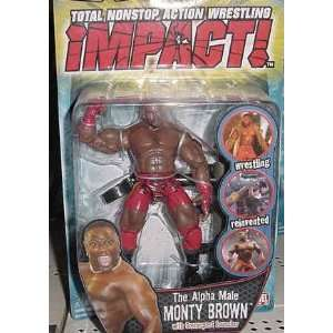 TNA Wrestling Series 3 Action Figure Monty Brown Toys