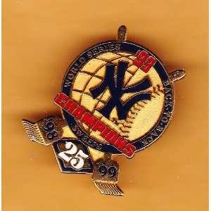 1999 New York Yankees World Series Champions Pin Sports