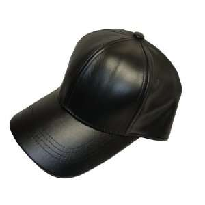 LEATHER BASEBALL CAP HAT CAPS HATS ADJUSTABLE MADE IN USA Everything
