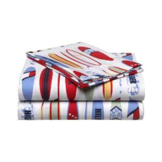 4pc TOMMY HILFIGER Surfing Cotton Queen Bed SHEETS SET